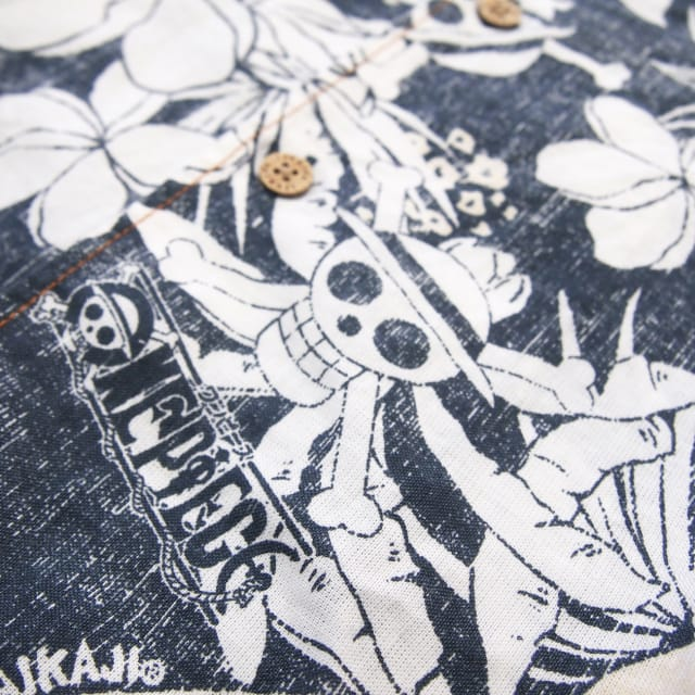 「ONE PIECE」x「PAIKAJI」コラボアロハシャツ柄デザイン