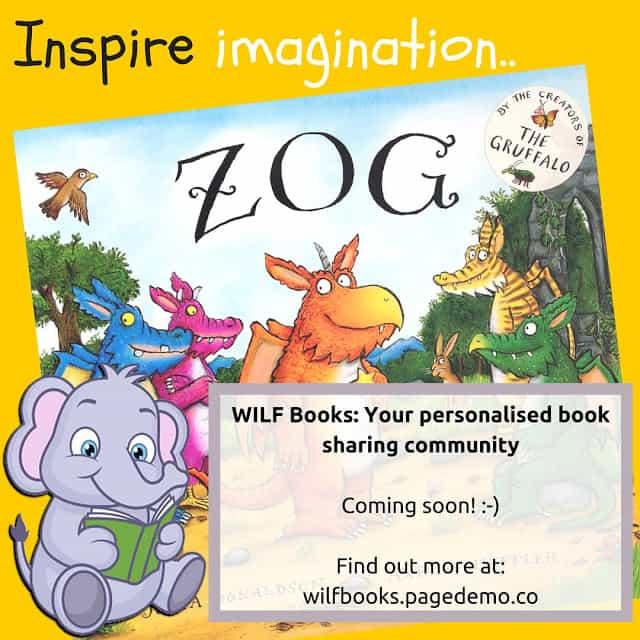 WILF Books - Inspire Imagination book sharing childrens
