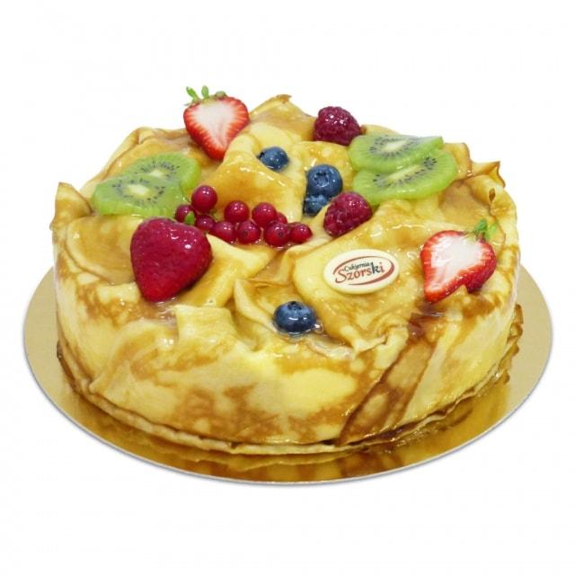tort naleśnikowy rosyjska ambrozja, tort ostrów wielkopolski, tort z ciastem nalesnikowym