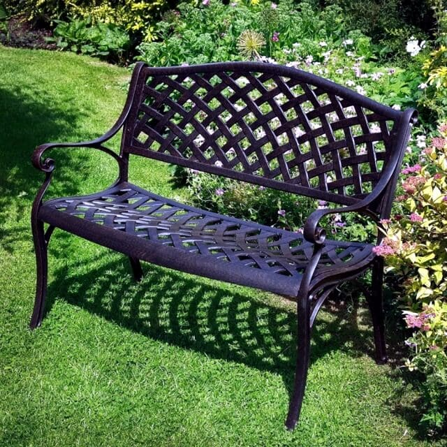 BENCHES WROUGHT IRON PATIO FURNITURE IDEAS