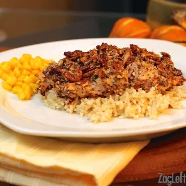 Parmesan Pecan Crusted Salmon - ZagLeft