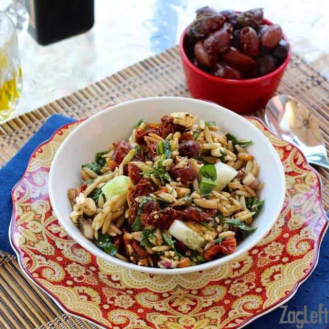 I love the flavors in this Mediterranean Orzo Salad from ZagLeft