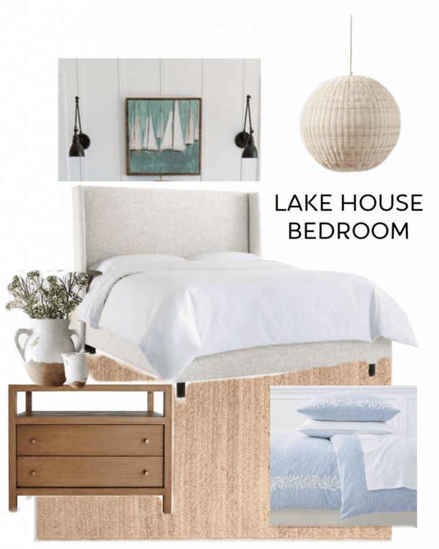 lake house coastal bedroom design