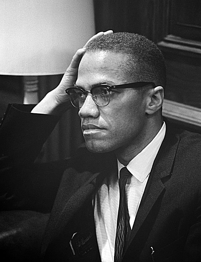 Picture: Malcolm X - released into the public domain by its author, U.S. News & World Report (Library of Congress). Sourced from Wikimedia Commons