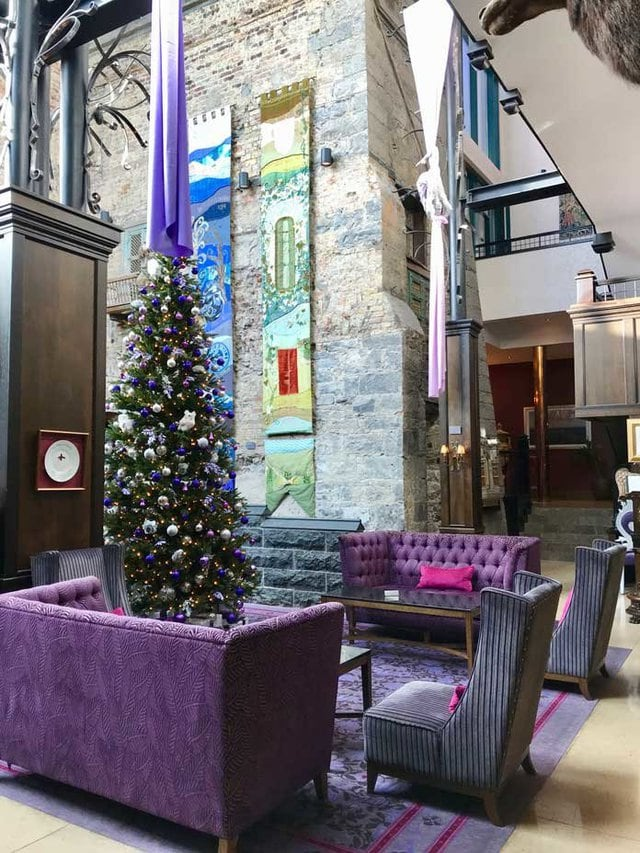 Lobby of Clontarf Castle Hotel with Christmas tree | Dublin, Ireland | ZagLeft