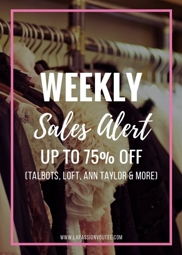 Chic fashionista and deal hunter, Louisa of La Passion Voutee rounds up the best sales happening this week. Find out how you can score a lot of your winter essentials for up to 70% off. Get the scoop! #salesalert #winterfashion