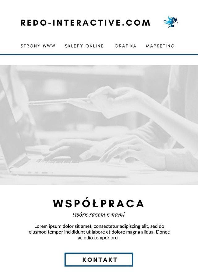 projekt graficzny newsletter canva strona 1