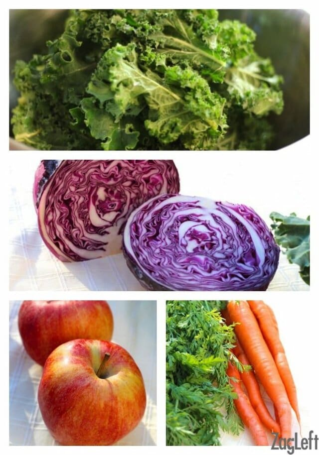 Apple, Kale, and Cabbage Salad | zagleft