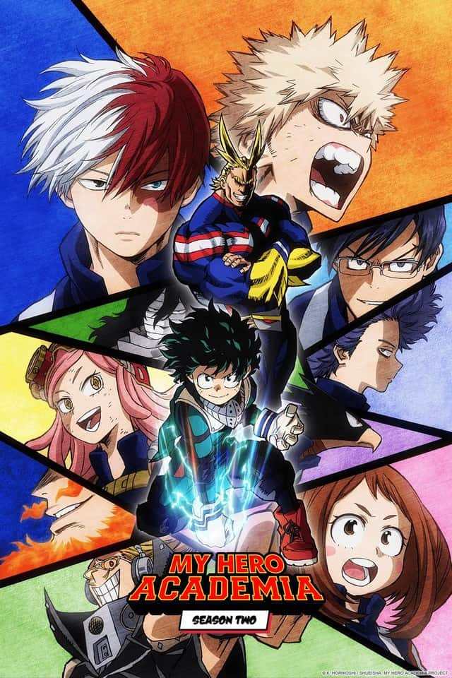 Poster for 'My Hero Academia'.