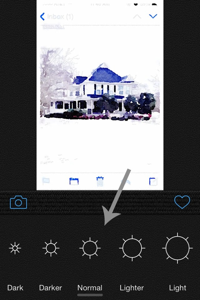 Using the app Waterlogue, you can change filters, photo settings, and other aspects to apply special effects to any photo you'd like