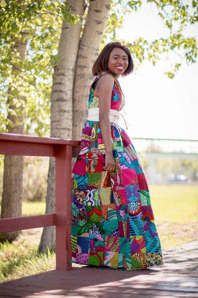 The Only Ankara Dress You Need Right Now | This reversible African print dress will make you the talk of the town. Wear the patchwork side sizzling with vibrant colors to stand out or turn it inside out to reveal a more subdued print and equally show-stopping details. Ankara | Dutch wax | African print dress | African fashion | African women dresses | African prints | Nigerian style | Ghanaian fashion | Kenya fashion | Nigerian fashion | African clothes | ankara dresses | ankara styles