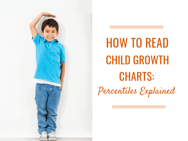 How to read child growth charts - boy in blue shirt and jeans measuring his height