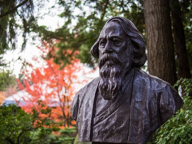 The picture of Rabindranath Tagore is by Eugene Kim. Sourced from Flickr and reproduced under a Creative Commons Attribution 2.0 Generic (CC BY 2.0) licence.