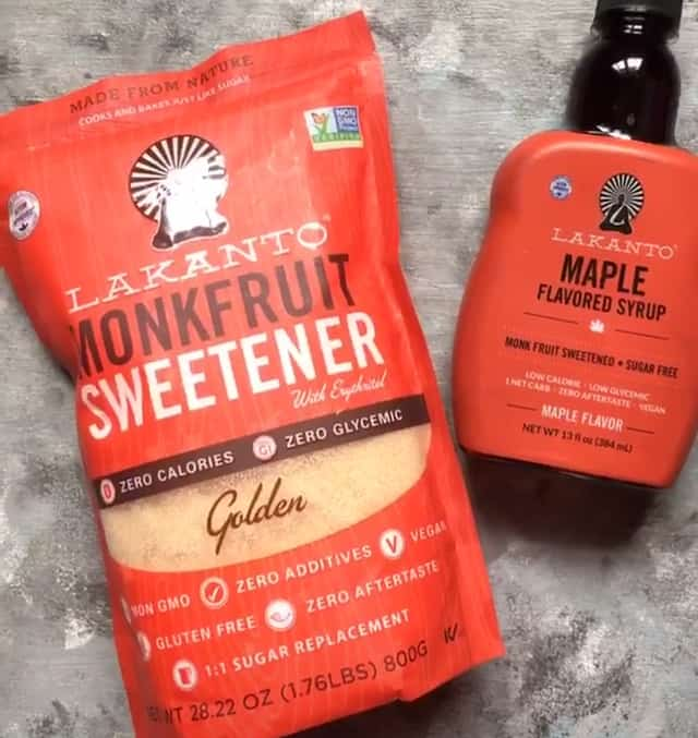Monk Fruit Sweetener granulated and syrup