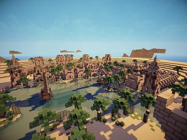 Hafsah, The Desert Village - 0neArcher minecraft ideas 6