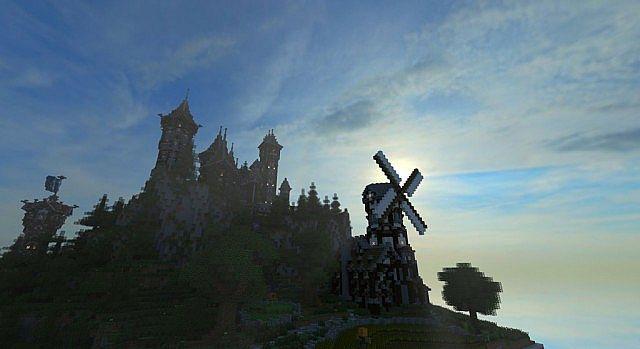 Medieval Castle and Village minecraft building ideas 2