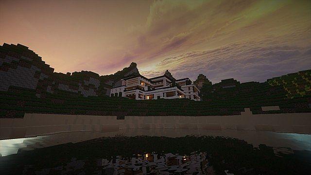 Modern Mansion - Cliff Side Escape Minecraft 2