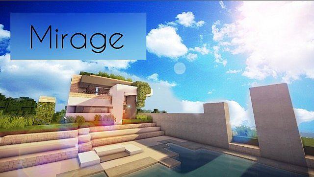 Mirage luxury modern house minecraft building ideas