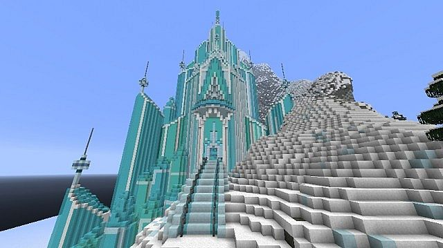 Frozen - Elsa's Ice Castle minecraft building ideas 4