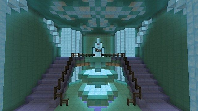 Frozen - Elsa's Ice Castle minecraft building ideas 9