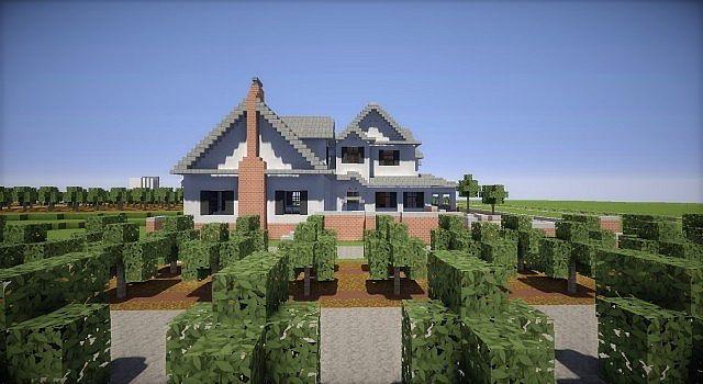 Minecraft Farm house red barn fields building ideas 2