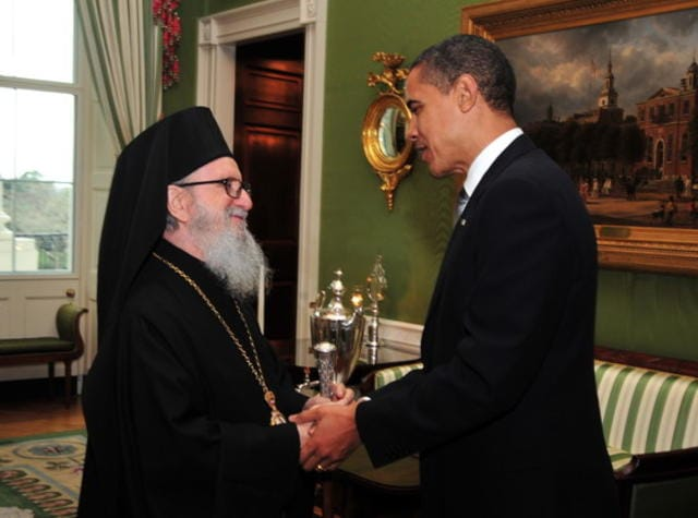 President Barack Obama Welcomes His Eminence Archbishop Demetrios of America to the White House for the 188th Celebration of Greek Independence Day, Mar. 25th, 2009 - © Photo by D. Panagos