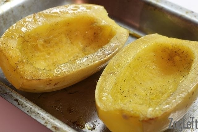 Cooked spaghetti squash just out of the oven | One Dish Kitchen