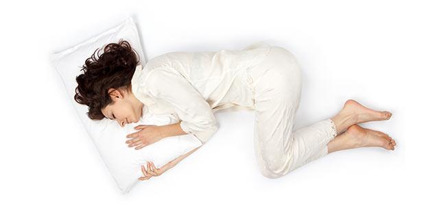 auf der seite schlafen