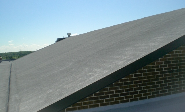 SPF on Shingle Roof