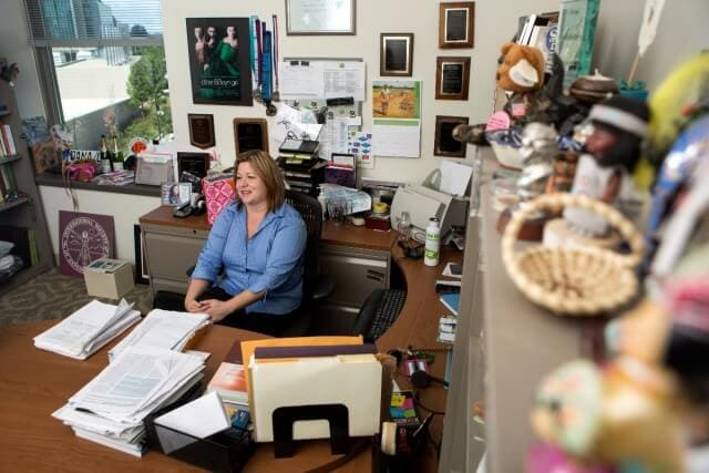 Dr. Dana Barr in her office Emory University.