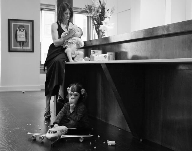 A photograph from Magzan's series 'Adventures in Mommyhood.'