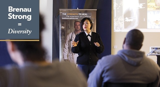 Brenau Strong: Diversity. Yao Yao Zhu took an unusual path for a rising U.S. military medical officer. It went through Brenau, but it started in China.