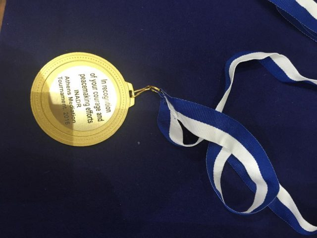 The special medallion prepared for the Syrian participants.