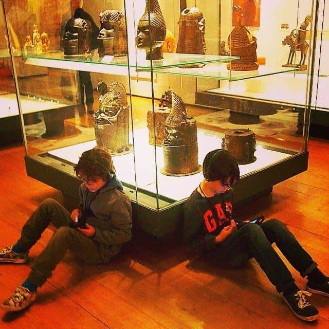 Kids audio guides at the British Museum