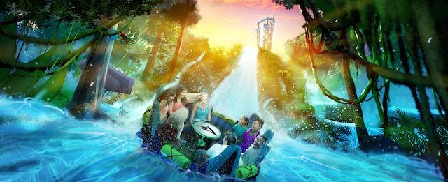 Infinity Falls at SeaWorld Orlando