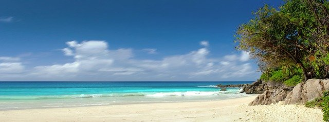 Küste an den Seychellen