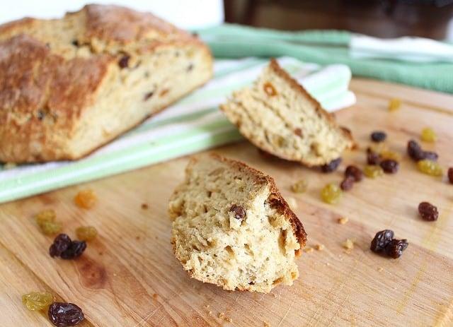 Sweet soda bread with cinnamon and sugar is a fun twist on Irish soda bread for St. Patrick's Day.
