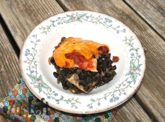 Slow Cooker Black Bean Enchilada Casserole from Zagleft a