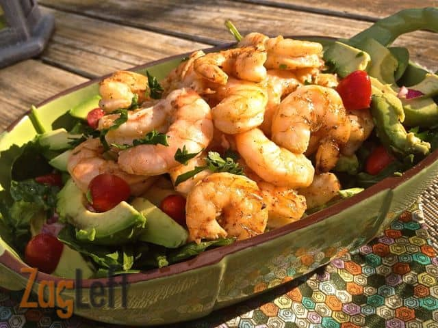 Grilled Shrimp and Avocado Salad from Zagleft b