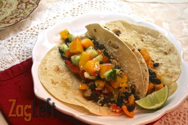 Quinoa and Black Bean Burritos from Zagleft c