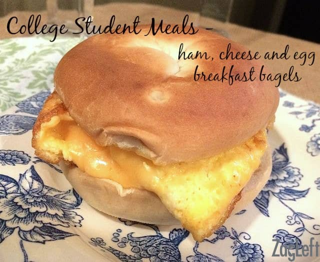 Easy and delicious Ham, Cheese and Egg Breakfast Bagel - ZagLeft