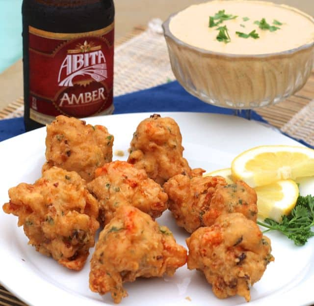 Crawfish Beignets with Remoulade Sauce