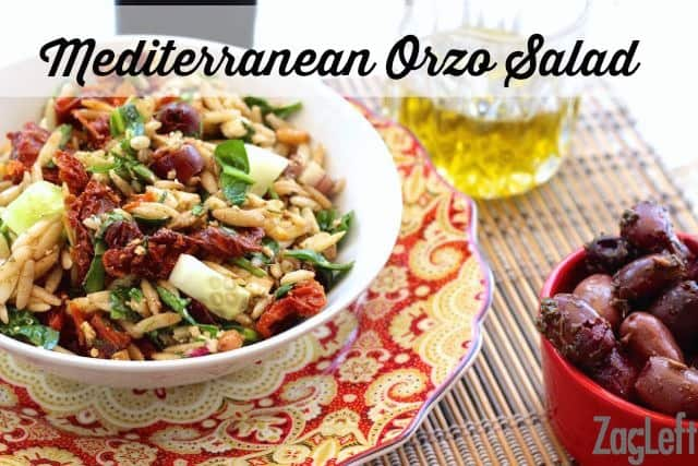 I love all the wonderful flavors in this Mediterranean Orzo Salad from ZagLeft