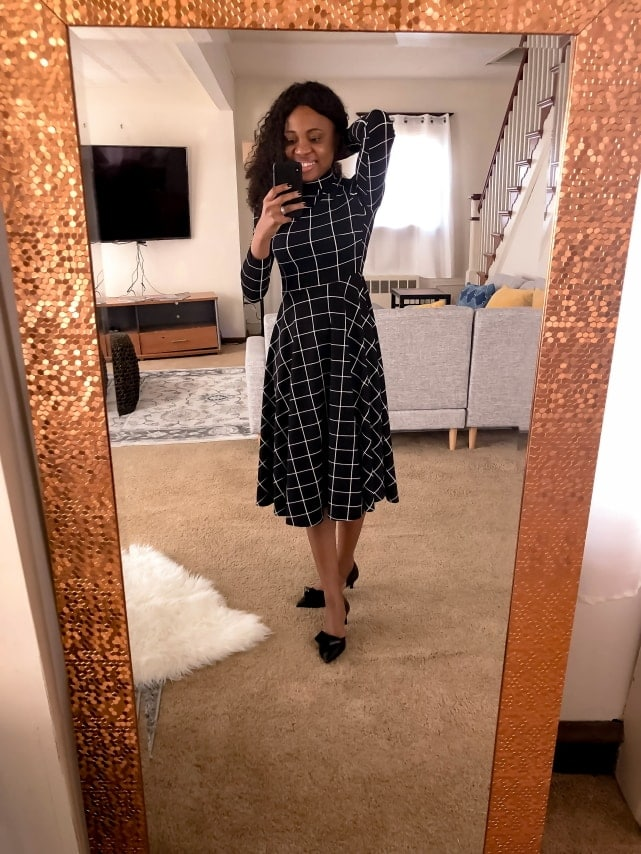 Amazon best sellers Fit & Flare Plaid Dress