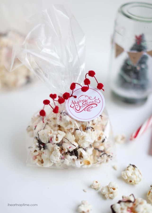 peppermint popcorn gift idea