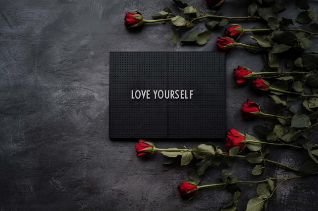 love yourself sign