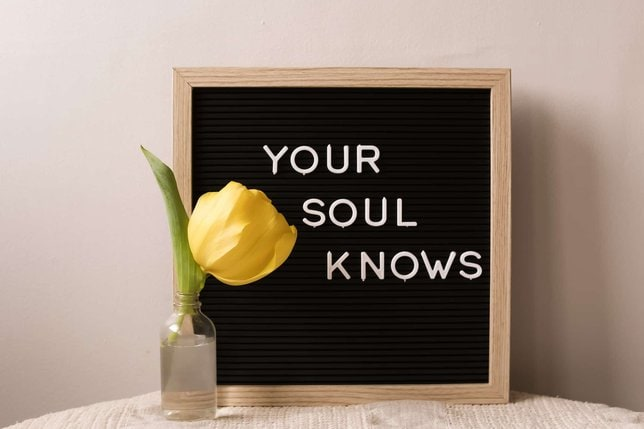 your soul knows sign