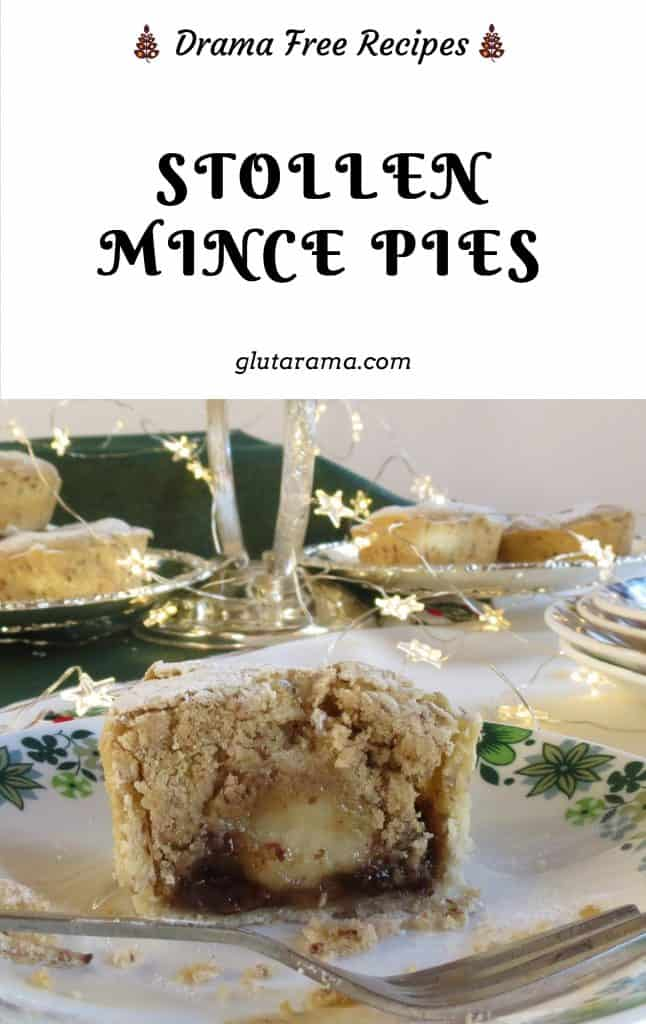 Stollen Mince Pies; merging the traditional mince pie with stollen and throwing in frangipane for good measure! what's not to love #glutenfree #dairyfree #vegan #Christmas #seasonal