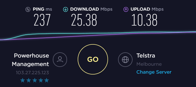 VyprVPN Australia Speed