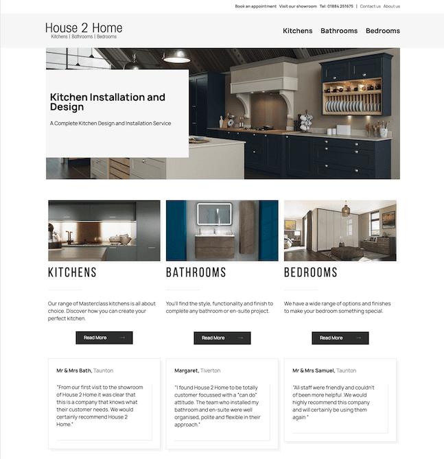 home improvements website design